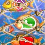 Rete da pesca che rappresenta la rete di Internet
